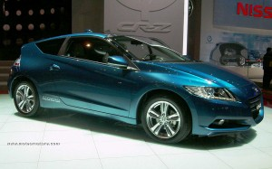 The Honda CR-Z hybrid at the Geneva motorshow