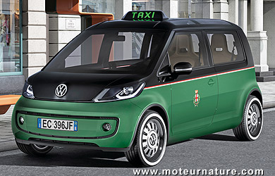 The electric taxi Volkswagen Milano