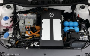 Motor of electric Volkswagen Lavida