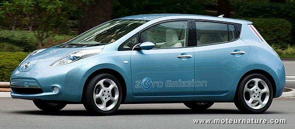 The electric Nissan Leaf