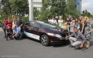 Honda FCX Clarity in Frankfurt at the European Youth Parliament