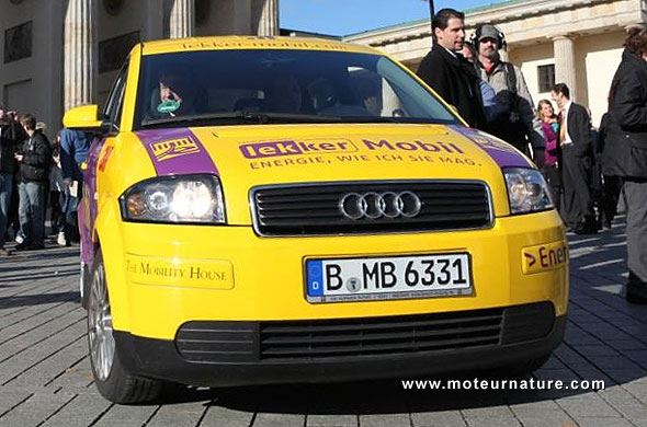 Electric Audi A2 with LMP batteries from DBM Energy