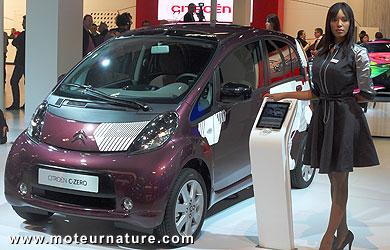 An electric Citroën C-Zero at the Bologna motor show