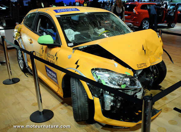 Electric Volvo after a crash test