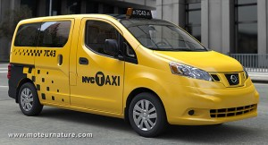 Nissan taxi in New York