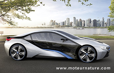 bmw i8 a stunning plug in hybrid green supercar from munich motornature cars for green drivers. Black Bedroom Furniture Sets. Home Design Ideas