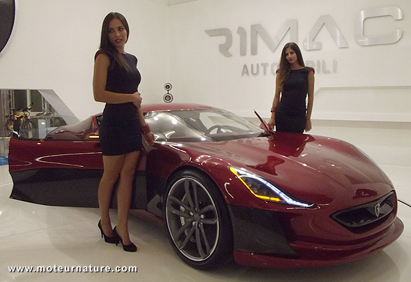 The Rimac Concept One, an electric supercar from Croatia