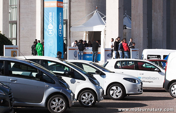 Ride and drive event in H2Roma
