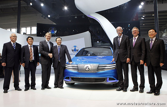 The Denza Chinese electric car