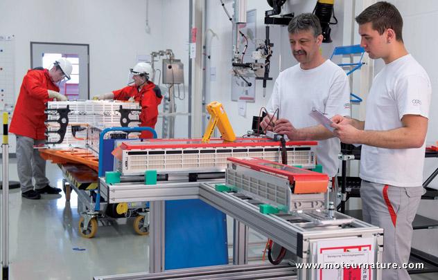 Projekthaus Hochvolt-Batterie (battery packaging at Audi)