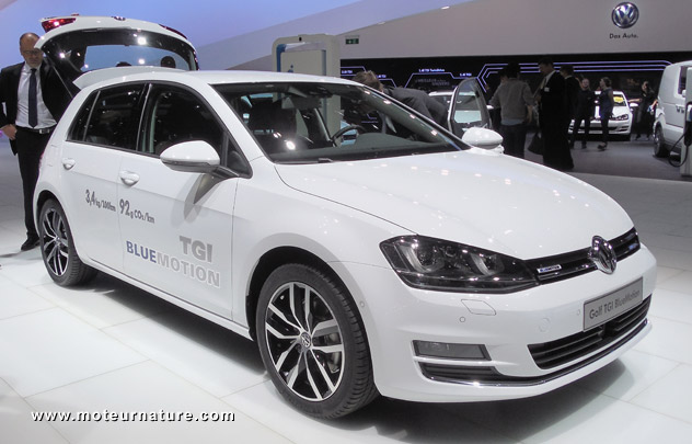 volkswagen bets on cng with 2 cars the golf tgi and the. Black Bedroom Furniture Sets. Home Design Ideas