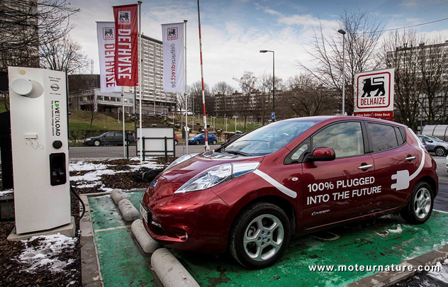 Delhaize EV charging station in Belgium