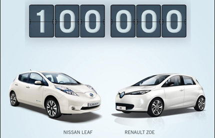 100000 Renault-Nissan electric vehicles