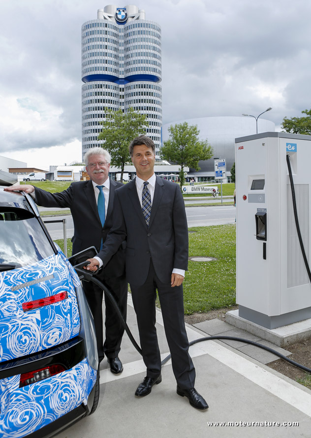 CCS charger at BMW Welt