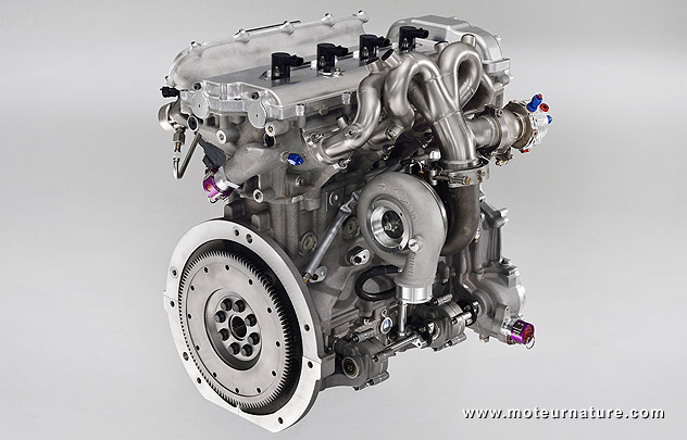 Gas engine from the Toyota Yaris Hybrid-R