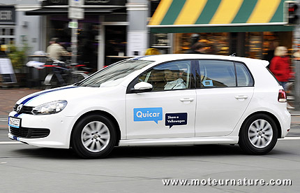 Volkswagen Golf Quicar car-sharing