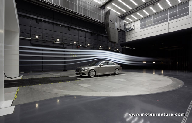 Mercedes aeroacoustic wind tunnel