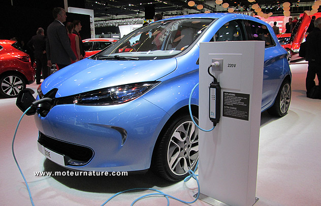 Renault Zoe electric in Frankfurt