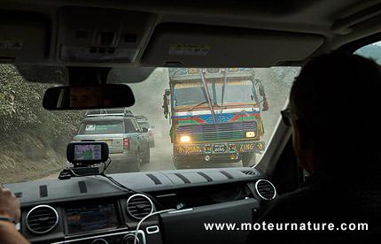 Range Rover diesel-hybrid during the Silk Trail