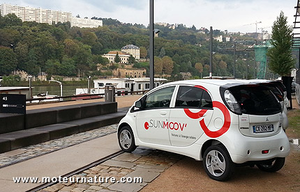 Mitsubishi i-MiEV in Lyon from the SUNMOOV project