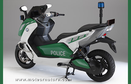BMW C evolution electric scooter, police edition