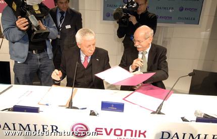 Daimler with Evonik