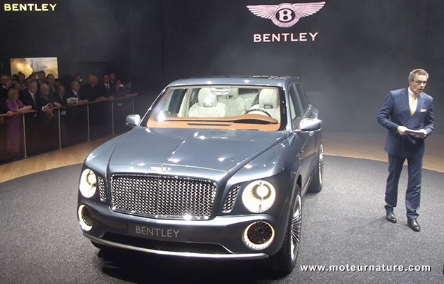 Bentley SUV concept in Geneva