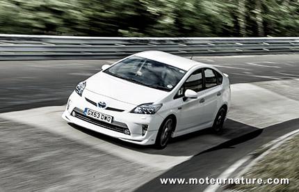 Toyota plug-in Prius at the Nurburgring
