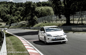 Toyota plug-in Prius at the Nurburgring
