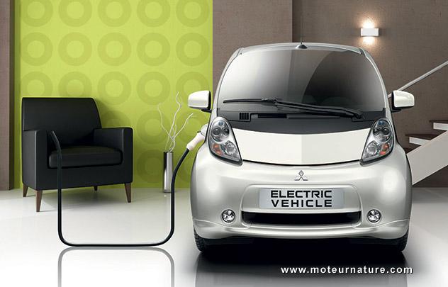 Mitsubishi i-MiEV in the living room