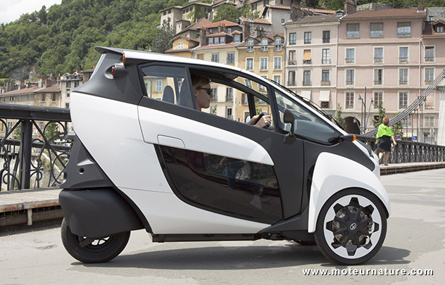 Toyota i-Road electric vehicle in Grenoble